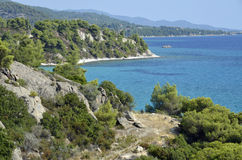 Sithonia relief sea Stock Photography