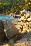 Sithonia - strand Fava Royalty-vrije Stock Foto