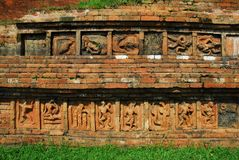 Siti archeologici di Paharpur il Bihar nel Bangladesh fotografia stock
