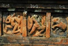 Siti archeologici di Paharpur il Bihar nel Bangladesh fotografia stock libera da diritti