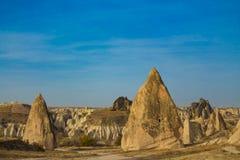 Siti della roccia della valle di Cappadocia Fotografia Stock