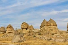 Siti della roccia di Cappadocia Fotografia Stock