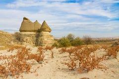Siti della roccia di Cappadocia in autunno Fotografie Stock Libere da Diritti