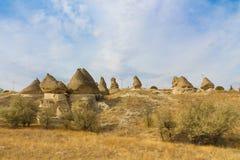 Siti della roccia di Cappadocia, Turchia Fotografie Stock Libere da Diritti