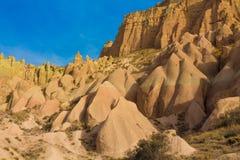 Siti della roccia di Cappadocia, Turchia Fotografia Stock Libera da Diritti