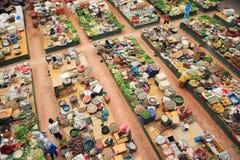 Siti Khadijah Market. KELANTAN, MALAYSIA - JUNE 01: Muslim women selling fresh produce in Kelantan, Malaysia June 01, 2010 Stock Photography