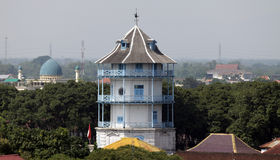 Siti tower inggil central java Indonesia solo palace visible from a distance. s Sasana Siti Inggil made higher compared with other Royalty Free Stock Photos