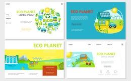 Siti Web piani di ecologia messi royalty illustrazione gratis