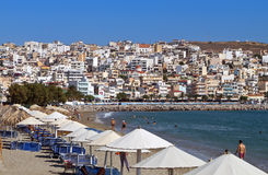 Sitia city at Crete island, Greece Royalty Free Stock Images
