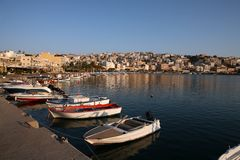 Sitia harbour with boats Crete Greece Royalty Free Stock Photography