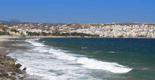 Sitia-Stadt und Strand in Kreta-Insel Stockfoto
