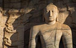 Siting Buddha Statue, Polonnaruwa, Sri Lanka. Ancient City of Polonnaruwa, seated Buddha in meditation at Gal Vihara Rock Temple (Gal Viharaya), UNESCO Stock Photography