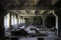 Sitio abandonado en RLS Duga Imagenes de archivo