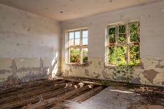 Sitio abandonado y destruido Foto de archivo