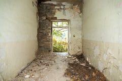 Sitio abandonado y destruido Fotografía de archivo