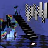 Sitio abstracto 3D Imágenes de archivo libres de regalías