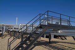 Sitio activo del compresor de gas natural Imágenes de archivo libres de regalías