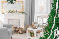 Sitio adornado de la Navidad hermoso Fotos de archivo libres de regalías