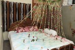 Sitio adornado indio para casarse ceremoney fotos de archivo