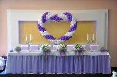 Sitio adornado para la boda de realización Fotografía de archivo