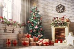 Sitio adornado para la Navidad fotografía de archivo
