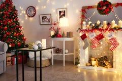 Sitio adornado para la Navidad Imagenes de archivo