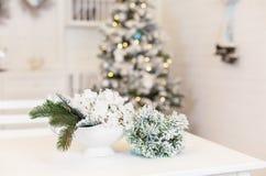 Sitio adornado por la Navidad o el Año Nuevo Imagen de archivo
