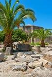 Sitio antiguo de Gortyna Crete, Grecia foto de archivo libre de regalías
