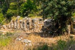 Sitio antiguo de Olympos, Antalya, Turquía fotos de archivo libres de regalías