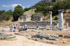 Sitio antiguo de Philippi Foto de archivo