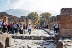 Sitio antiguo de Pompeya Foto de archivo