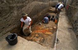 Sitio arqueológico Imagen de archivo libre de regalías