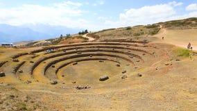 Sitio arqueológico Cuzco Perú del Moray almacen de video