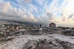 Sitio arqueológico de Byblos Imagenes de archivo