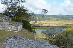 Sitio arqueológico de Chinkultic en Chiapas Imágenes de archivo libres de regalías