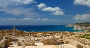 Sitio arqueológico de Kourion en Chipre fotos de archivo