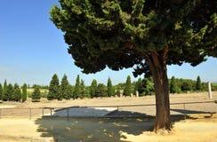 Sitio arqueológico de la ciudad romana de Italica, Andalucía, España Imagen de archivo libre de regalías