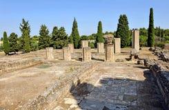 Sitio arqueológico de la ciudad romana de Italica, Andalucía, España Fotos de archivo