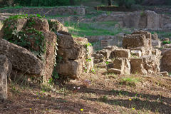Sitio arqueológico de la Olympia, Grecia. Foto de archivo