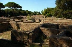Sitio arqueológico de Ostia, Roma fotografía de archivo libre de regalías