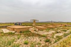 Sitio arqueológico de Pasargad Foto de archivo libre de regalías