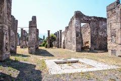 Sitio arqueológico de Pompeya Fotos de archivo