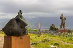 Sitio arqueológico de Pompeya, Campania, Italia Fotografía de archivo libre de regalías