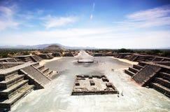 Sitio arqueológico de Teotihuacan, México imagen de archivo