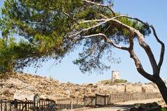 Sitio arqueológico en Nora Imagenes de archivo
