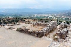 Sitio arqueológico griego de Mycenae Foto de archivo