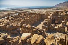 Sitio arqueológico, Qumran, Israel. imagen de archivo