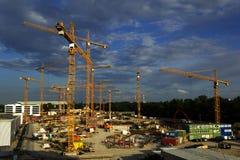 Sitio bajo construcción Fotografía de archivo libre de regalías