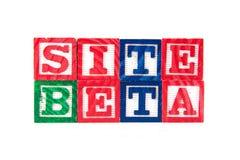 Sitio beta - bloques del bebé del alfabeto en blanco Imágenes de archivo libres de regalías