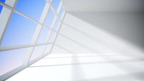 Sitio blanco con la ventana Fotos de archivo libres de regalías